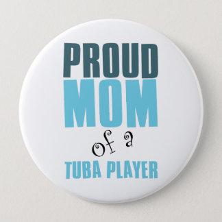 Bóton Redondo 10.16cm Mamã orgulhosa de um jogador da tuba