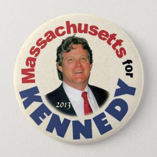 Bóton Redondo 10.16cm Massachusetts para (Ted) Kennedy (Jr.)