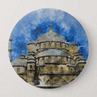 Bóton Redondo 10.16cm Mesquita azul em Istambul Turquia