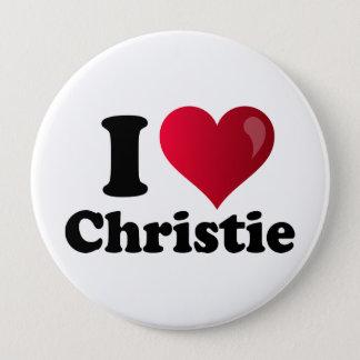 Bóton Redondo 10.16cm Mim coração Chris Christie