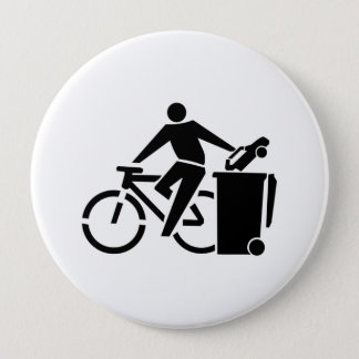 Bóton Redondo 10.16cm Monte uma bicicleta não um carro
