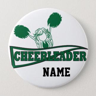 Bóton Redondo 10.16cm Nome bonito   do cheerleader   DIY verde escuro