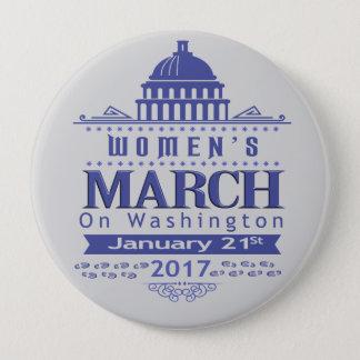 Bóton Redondo 10.16cm O março de milhão mulheres no Pin do botão de