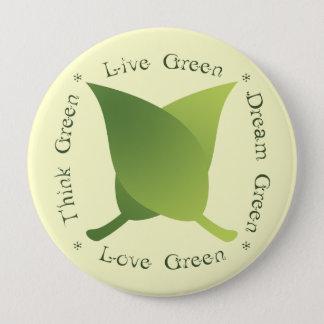 Bóton Redondo 10.16cm O verde vivo, pense verde, verde ideal, ama o