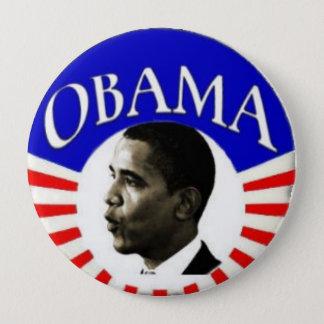 Bóton Redondo 10.16cm Obama botão de 4 polegadas