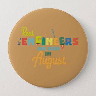 Bóton Redondo 10.16cm Os engenheiros são em agosto Z479b nascidos