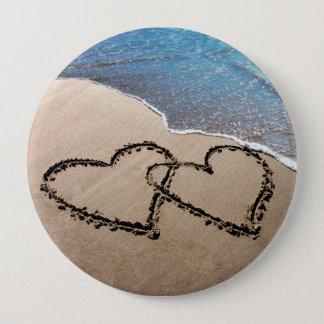 Bóton Redondo 10.16cm Para sempre corações do amor dois no Pin do botão