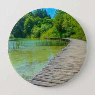 Bóton Redondo 10.16cm Parque nacional de Plitvice em fugas de caminhada