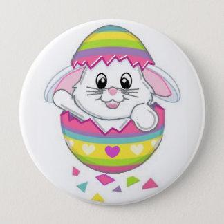Bóton Redondo 10.16cm Pin do botão do coelho de coelhinho da Páscoa no