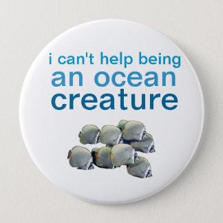 Bóton Redondo 10.16cm pino da criatura do oceano