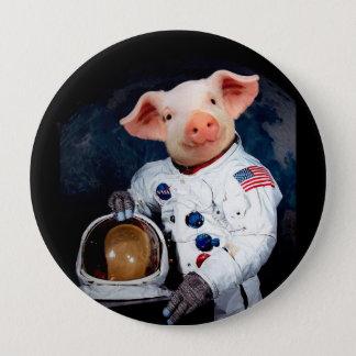 Bóton Redondo 10.16cm Porco do astronauta - astronauta do espaço