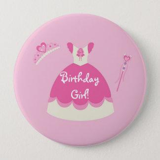 Bóton Redondo 10.16cm Princesa cor-de-rosa Pingamento Personalized