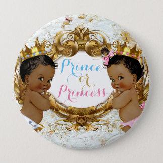 Bóton Redondo 10.16cm Príncipe ou princesa africana Género Revelação