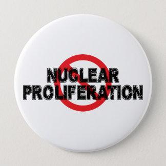 Bóton Redondo 10.16cm Proliferação nuclear da proibição