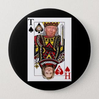 Bóton Redondo 10.16cm Rei Donald contra a rainha Hillary