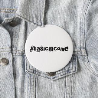 Bóton Redondo 10.16cm renda básica universal do #basicincome