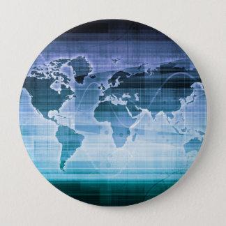 Bóton Redondo 10.16cm Soluções globais da tecnologia