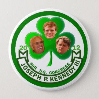 Bóton Redondo 10.16cm Sorte do irlandês: Joe Kennedy ó para o congresso