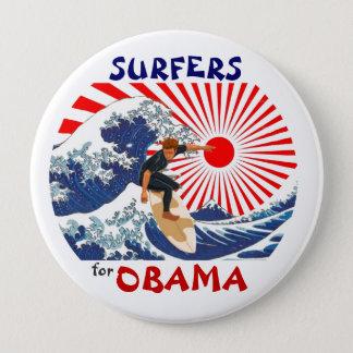 Bóton Redondo 10.16cm Surfistas para Obama