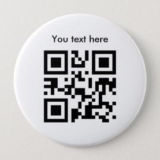 Bóton Redondo 10.16cm Texto do botão (enorme, feito sob encomenda)