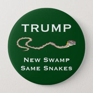 """Bóton Redondo 10.16cm """"Trunfo - pântano novo. Verde dos mesmos cobras"""""""