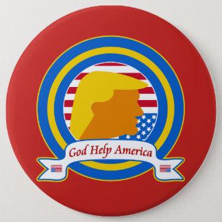 Bóton Redondo 15.24cm A ajuda América do deus resiste o anti trunfo