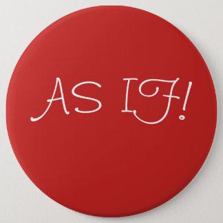 Bóton Redondo 15.24cm À nora como se botão gigante vermelho