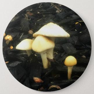 Bóton Redondo 15.24cm Abraçando cogumelos