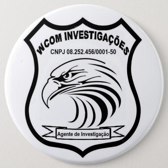 Bóton Redondo 15.24cm Agente de Investigação WCOM