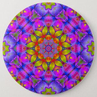Bóton Redondo 15.24cm Arte floral G445 do Fractal do botão