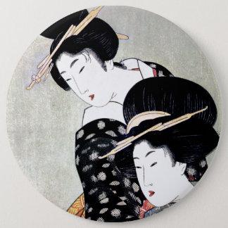 Bóton Redondo 15.24cm Arte tradicional japonesa oriental legal da gueixa