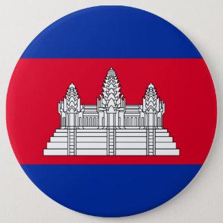Bóton Redondo 15.24cm Bandeira de Cambodia