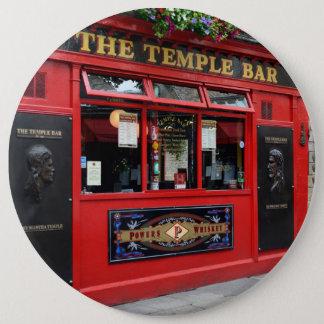 Bóton Redondo 15.24cm Bar vermelho do bar do templo no botão de Dublin