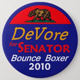 Bóton Redondo 15.24cm Botão 2010 de DeVore Califórnia 6in