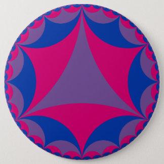 Bóton Redondo 15.24cm Botão bissexual do fractal