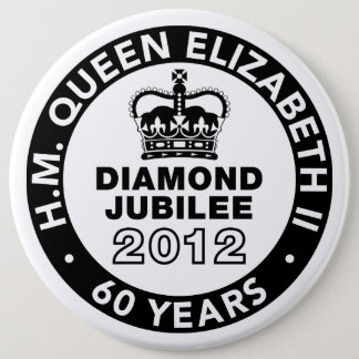 Bóton Redondo 15.24cm Botão comemorativo do jubileu de diamante