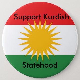 Bóton Redondo 15.24cm Botão curdo do Statehood do apoio