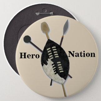 Bóton Redondo 15.24cm Botão da nação do herói