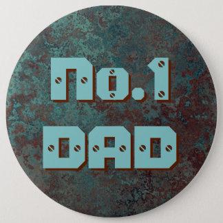 """Bóton Redondo 15.24cm Botão de impressão """"de cobre"""" do PAI No.1 da"""