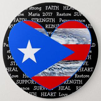 Bóton Redondo 15.24cm Botão de Maria 2017 do furacão da bandeira de