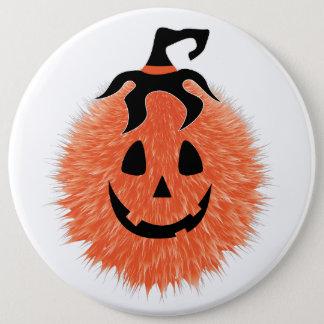 Bóton Redondo 15.24cm Botão distorcido da abóbora do Dia das Bruxas