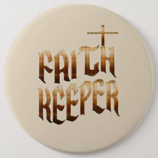 Bóton Redondo 15.24cm Botão do depositário da fé - mantenha a fé