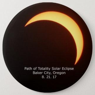Bóton Redondo 15.24cm Botão do eclipse solar