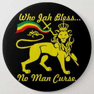 Bóton Redondo 15.24cm Botão enorme de Jah Rastafari: