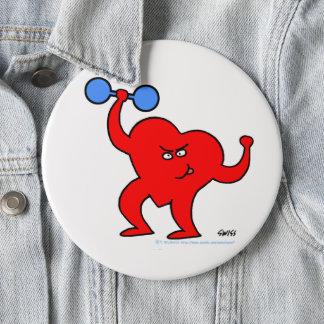 Bóton Redondo 15.24cm Botão inspirado do exercício da saúde do coração