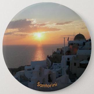 Bóton Redondo 15.24cm Botão redondo do por do sol de Santorini