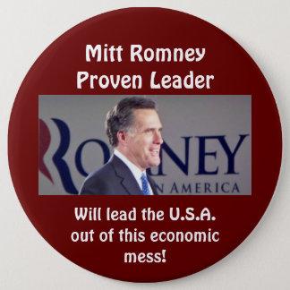 Bóton Redondo 15.24cm Botão redondo provado Mitt Romney da foto do líder