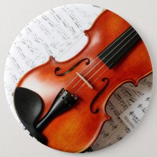 Bóton Redondo 15.24cm Botão redondo - violino do instrumento de música