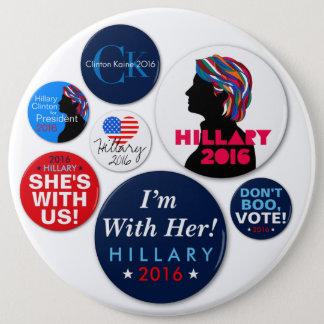 Bóton Redondo 15.24cm Botão super da campanha de Hillary 2016