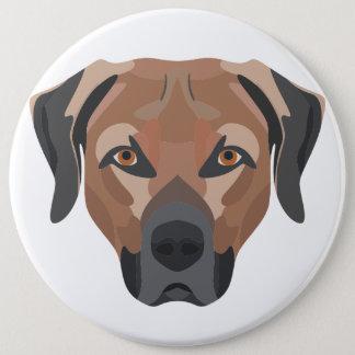 Bóton Redondo 15.24cm Cão Brown Labrador da ilustração
